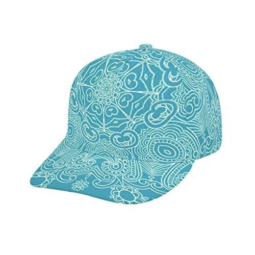 O2ECH-8 Student LightSeaGreen Mandala muts - Indiase stijl instelbare fitness hoed