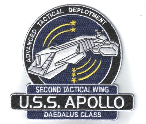 Stargate SG-1 Atlantis U.S.S. Apollo Ship Logo 4 1/2' Tall Embroidered PATCH