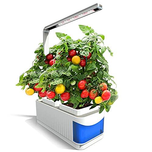 ZHANGDA Beleuchtung Hydroponics-Anbausätze, Smart Garden, Hydroponic Indoor Herb Garden-Kit Smart Multifunktions-Anbauleiste für den Anbau von Pflanzen mit Blumengemüse