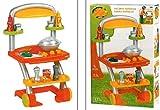Ecoiffier tolle Spielküche Küche Grillwagen mit Zubehör