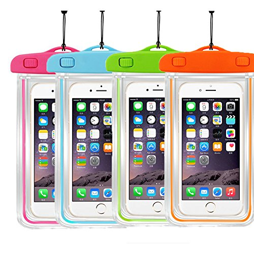 """[4Ppack] Waterproof Case Universal CellPhone Dry Bag Pouch CaseHQ for Apple iPhone 8,8plus,7,7plus 6S, 6, 6S Plus, SE, 5S, Samsung Galaxy s8,s8 plus S7, S6 Note5, HTC LG Motorola up to 5.8"""" diagonal"""