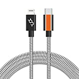 Dausen [Dopamine] Stainless USB-C to Lightning High Speed Charge & Sync Cable for iPhone 12 Mini/ 12/12 Pro/ 12 Pro Max, 4ft. /120cm, MFi Certified, Most Durable Stainless Steel