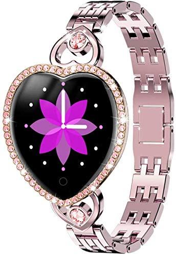 Reloj inteligente para mujer, IP68, resistente al agua, monitor de frecuencia cardíaca, monitor de sueño, reloj inteligente regalo para reloj de mujer
