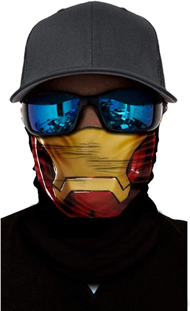 Block Garden 1Pack/ 6Pack 3D Rave Neck Gaiter Tube Bandana Balaclava Headwear Sun Protection