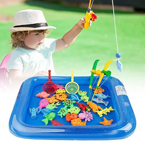 Groust Juego de pesca, juguete magnético para la bañera, juguete educativo, juguete para el baño, juego de agua, perfecto para aprender a tocar el agua, regalo para niños