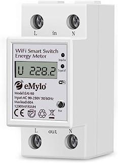 eMylo Contador Eléctrico Monofásico De Din-Rail Medidor De Energía Digital Monofásico Medidor Consumo Eelectrico Medidor E...