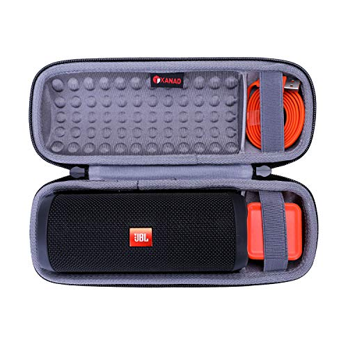 XANAD Case for JBL Flip 4 or JBL Flip 3 Speaker Hard Storage Carrying Protective Bag Grey