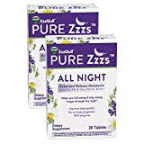 ZzzQuil PURE Zzzs, All Night Extended Release, Melatonin Sleep Aid Supplement with Lavender & Valerian Root, Sleeping Pills for Adult, Drug-Free, 28 Tablets (Pack of 2)
