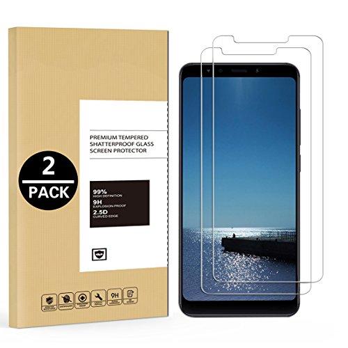 2 x Panzerglas Folie für Xiaomi Redmi 5 Plus Schutzfolie Ultra Klar Transparent 9H Festigkeit Panzerglas Bildschirmschutzfolie Anti-Öl Anti-Fingerabdruck Blasenfreie Gehärtetes Glas HD Panzerglasfolie