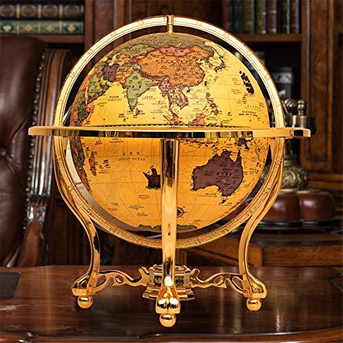 XHJZ-W Retro Vintage Weltkugel Große Globus Antik Lernraum Büro-Schreibtisch-Crafts-Dekoration-Verzierungen für Öffnungs-Geschenk