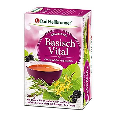 Bad Heilbrunner Basisch Vital Tee im Filterbeutel, 6er Pack (6 x 20 Filterbeutel)