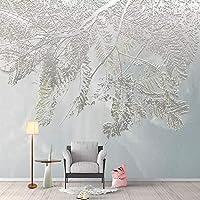 写真の壁紙3Dステレオ葉壁画リビングルームテレビソファ寝室の背景壁紙抽象芸術家の装飾, 400cm×280cm