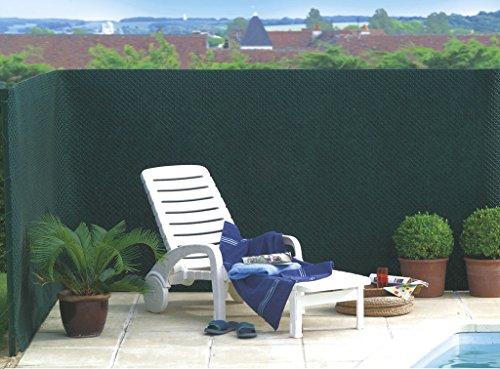 Brise Vue Vert en Maille Plastique 100% occultant 1 x 3 m Tandem