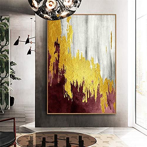 Geiqianjiumai Abstract goudzeildoeken-vlaggetaffiche en Bedside drukken zonder lijst schilderij van de moderne kunstwandafbeelding woonkamer slaapkameruitgangdecoratie