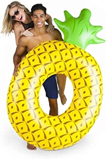 High quality Airbeds Yellow Giant Inflatable Pineapple Lifebuoy Swimming Pool Floating Row Outdoor Floating Lounge Toy 180...