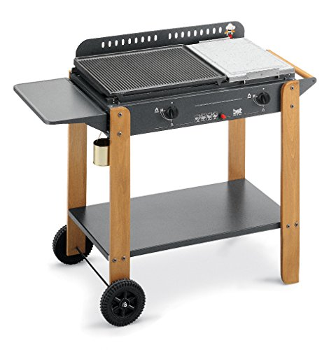 BST Saint-Tropez 6600 W Grill Gas Carrello Nero