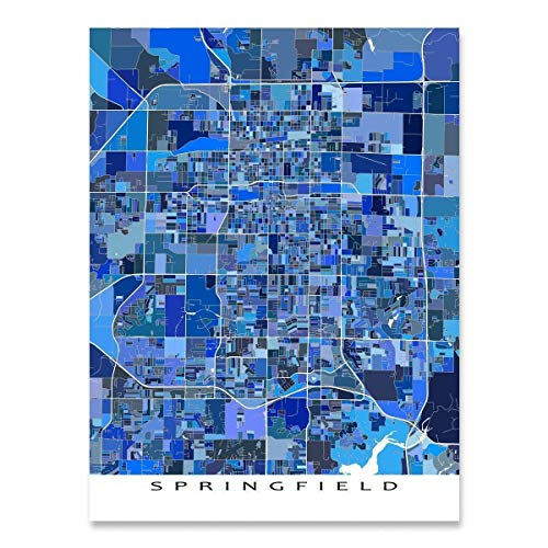 Springfield Wall Art gift Springfield Poster Personalized map Custom city Springfield Massachusetts Map Springfield City Print