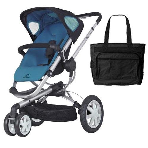 Quinny CV155BFWKT1 Buzz 3 Stroller with Diaper Bag - Blue Scratch by Quinny