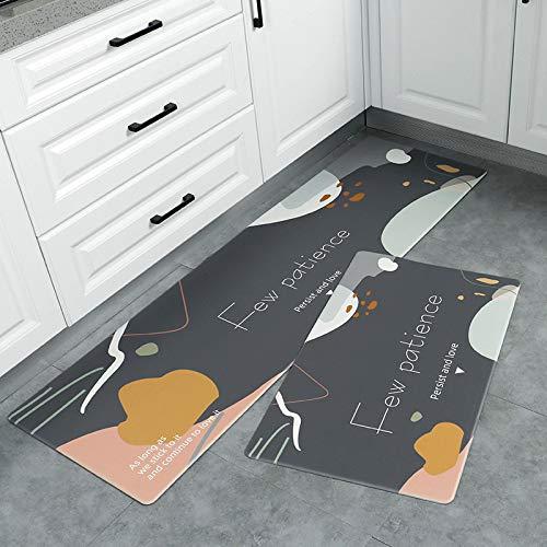Michance Nordischer Minimalistischer Druck Geometrische Küchentürmatten rutschfeste Und Ölbeständige PVC-Fußmatten Couchtisch Sofa Bad Wasserdichter Teppich