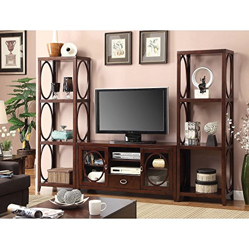 Furniture of America 'Melvilon' Cherry 3-Piece TV Entertainment Center with...