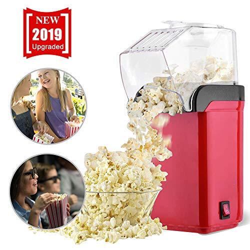 PorUna Macchina per Popcorn, Macchina per Popcorn Senza Grasso Elettriche, Aria Calda senza Olio, Coperchio Rimovibile, Senza BPA (EU)