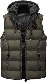 Sunward Men Coat Jacket Winterwear,Men Casual Winter Warm Hooded Zipper Sleeveless Vest Jacket Coat Outwear Tops