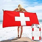 Badetuch Hamamtuch Schweizer Flagge Saunatuch Badelaken 140 X 70CM