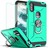 Moto P30 Play Case Motorola One Case with HD Screen Protector YmhxcY 360 Degree Rotating Ring Kickstand Holder Dual Layers of Shockproof Phone Case for Motorola Moto P30 Play 5.9'-ZS Mint