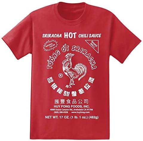 Sriracha Mens Sauce Graphic Short Sleeve T Shirt Red product image