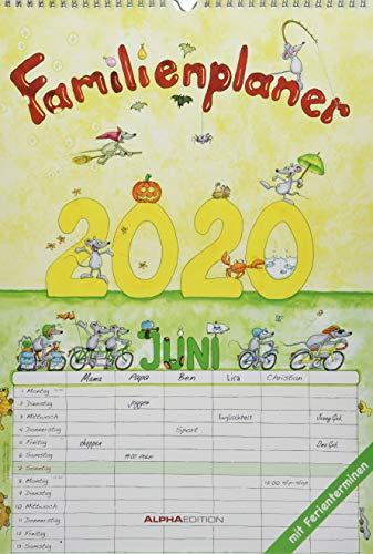 Familienplaner 2020 - Familienkalender A3 (30 x 42) - mit 6 Spalten - mit Ferienterminen - Wandplaner: by Silke Leskin
