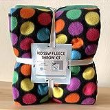 Dots Get Funky No-Sew Throw Blanket Fleece Fabric Kit (50x60)