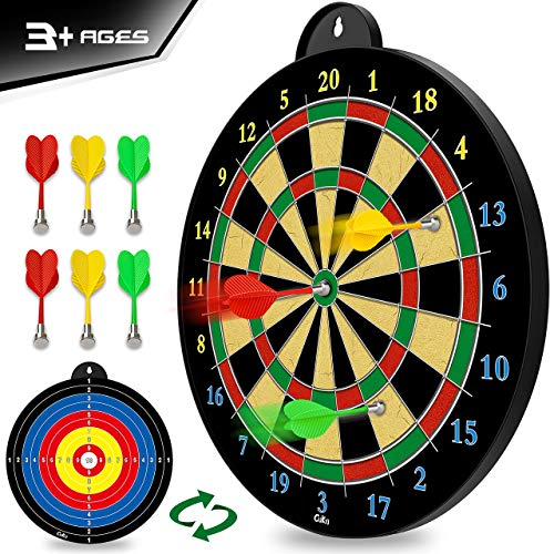 Magnetic Dart Board - 6pcs Magnetic Darts (Red Green Yellow) - Excellent Indoor Game and Party Games - Magnetic Dart Board Toys Gifts for 5 6 7 8 9 10 11 12 Year Old Boy Kids and Adults