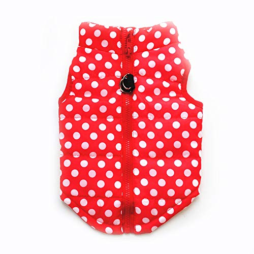 Pet Coat, Dog Winter Warm Coat with Zipper Leash Hook Cold Weather Jacket for Puppy Small Dog (M,...