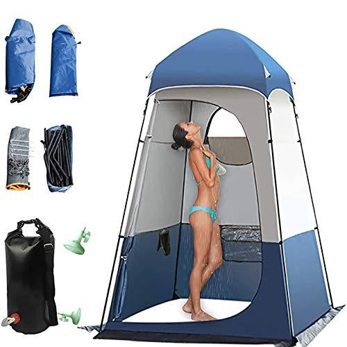 KKTECT Tienda de Aseo para Camping Tienda de Ducha emergente Tienda de privacidad Amplio Refugio al Aire Libre con Bolsa de Ducha Hang 20L Ducha Vestidor Tienda Privacidad Espacio