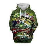 Men Women 3D Tropical Fish Printed Hoodie Long Sleeve Pullover Hooded Sweatshirts Tops Blouse K12 L