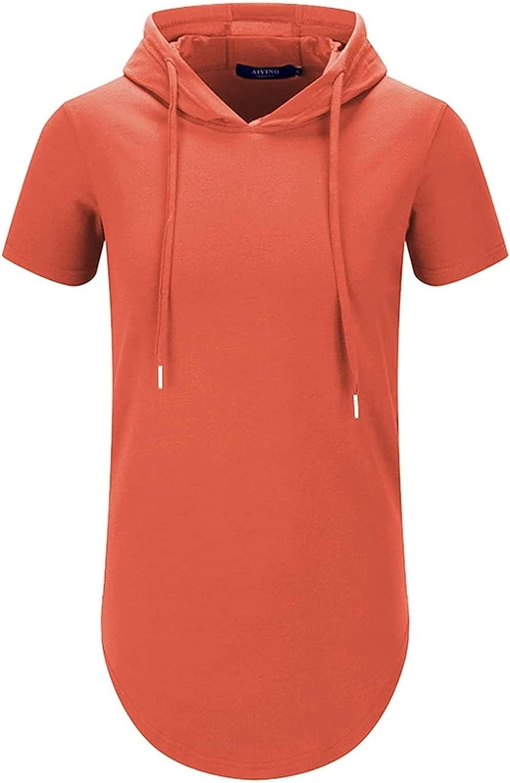 Caroun Men's S-5X New Shipping Free Shipping Short Sleeve Athletic Sport Hoodies Fashion Award Sw