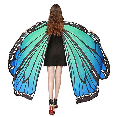 YWLINK Frauen Schmetterling FlüGel Schals Damen Nymphe Pixie Poncho KostüMzubehöR ZubehöR FüR Show/Daily/Party Partei FlüGel Tanzen ZubehöR