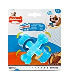 Nylabone Gentle Puppy Dog Teething X Bone Dental Chew Toy, Beef Flavour, Extra Small, for Puppies Up to 7 kg