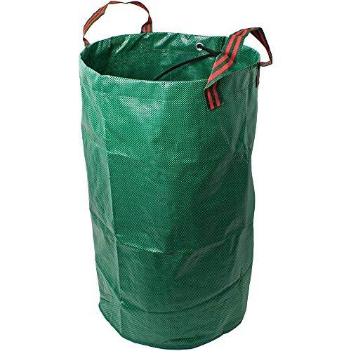 CampTeck 120 Liter Gartensäcke Polypropylen-Gewebe Gartenabfallsäck Wiederverwendbar Laubsack Faltbar Abfallsack