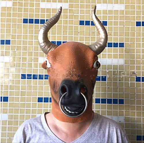 tytlmaske Pferdekopf Latex Maske,Tier Kuh Stier Maske,Cosplay Mann & Frau Vollkopf Maske,Für Halloween Maskerade Partys,Geschenke,Kostümpartys,Karneval,Weihnachten