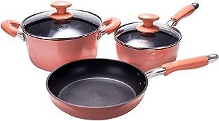 Amazon.es: juego de ollas de cocina rosa