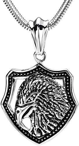 Ahuyongqing Co.,ltd Collar de Locomotora de Hip Hop con Objeto de Medalla Circular y Colgante de Traje de Hoz y Calavera con Capucha de Acero Inoxidable para Hombre