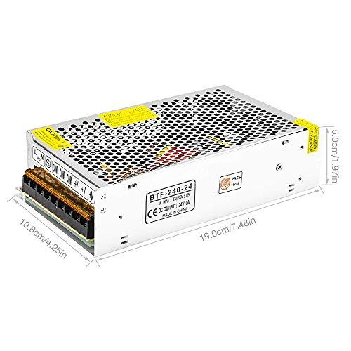 BTF-LIGHTING 24V 10A 240W Adaptador Alimentación Fuente de Aluminio para 5050 LED Módulos Tira Luz