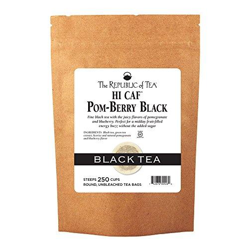 The Republic Of Tea HiCAF Pom-Berry Black Tea, 250 Tea Bags, High Caffeine Pomegranate Blueberry Tea