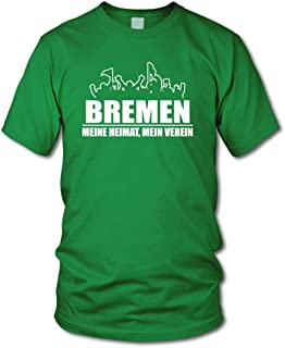 shirtloge - Bremen - Fanblock - Meine Heimat, Mein Verein - Fussball Fan T-Shirt - Größe S - 3XL