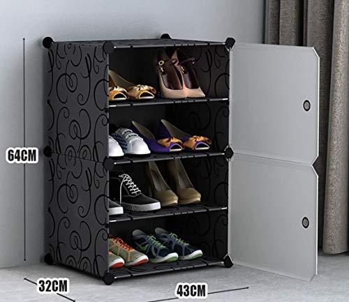 ZLJ Estante de Almacenamiento para Dormitorio a Prueba de Polvo Que Ahorra Espacio, Estante para Zapatos para el hogar, Estante para Zapatos en la Puerta, Resina de PVC, baño, Dormitorio, lavand