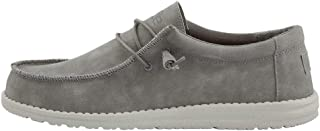 Hey Dude Men's Wally Recycled Leather Grey Size 11