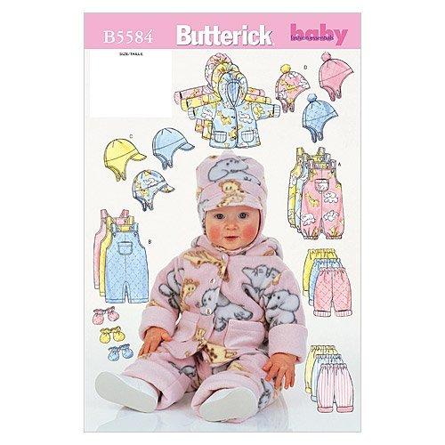 BUTTERICK 5584 L - Patrón de Costura para Confeccionar Ropa de bebé (Varios Modelos, Tallas L-XL) [en inglés y alemán]