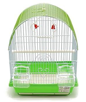 BPS Cage à Oiseaux en métal avec Abreuvoir à bacs à balançoire