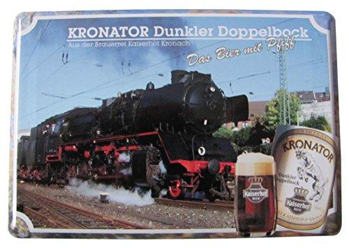 Kaiserhof Kronach - Kronator dunkler Doppelbock - EIN Bier mit Pfiff - Blechpostkarte mit Umschlag 10 x 14 cm